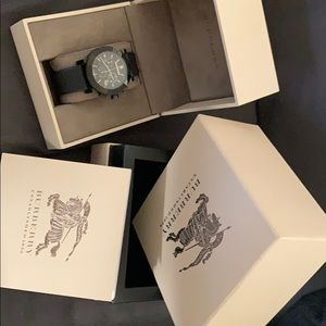 Men's Burberry Trench Chronograph Black Dial Watch